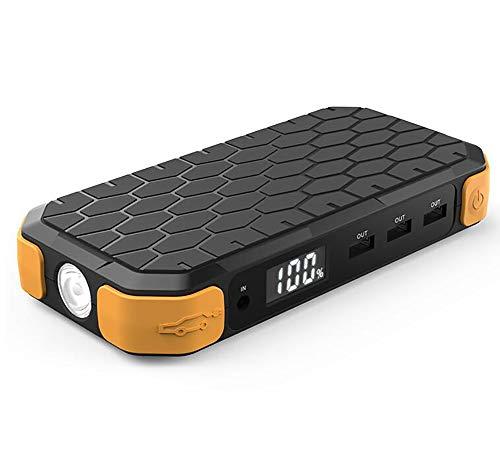 Démarreur De Voiture Portable 500A 12000Mah, Kits De Démarrage Pour Sauts 12V (Essence Jusqu'à 4,0 L, Moteur Diesel 2,8 L), Chargeur Pour Mobile, Tablette, Appareil Photo, Etc., Éclairage SOS