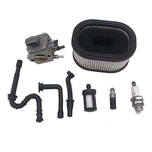HCO-YU Filtro de Aceite de Combustible de Aire Aceite de Aceite de Combustible Sujeción de chispas Kit de carburador Ajuste para STIHL 044 461 046 MS440 MS460 Piezas de Motosierra