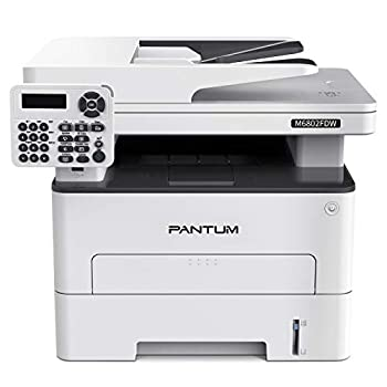 Pantum M6802FDW Wireless Monochrome Laser Printer Scanner Copier Fax All in One Wireless Networking and Duplex Printing for Home and Office Use  V1X47B