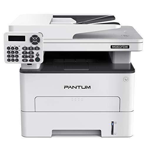 Pantum M6802FDW Wireless Monochrome Laser Printer Scanner Copier Fax All in One, Wireless Networking and Duplex Printing for Home and Small Office Use