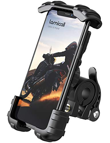 Handyhalterung Fahrrad, Lamicall Handyhalter Motorrad - Universal 360 Grad Drehung Outdoor Motorrad Fahrrad Halter für iPhone 11 Pro Max, Xs Max, XR, X, 8, 7, 6S, Samsung S10 S9 S8, andere Smartphones