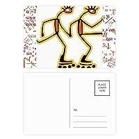 エジプトのフィギアローラースケートのパターン 公式ポストカードセットサンクスカード郵送側20個
