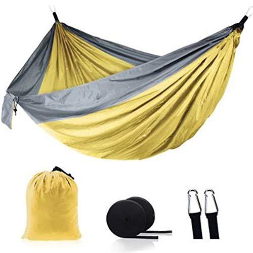 FDSJKD Ultralight Outdoor Camping Nylon Hängematte Schlaf Swingbaum Bett Garten Hinterhof Möbel Hängen Doppelhammockstuhl (Color : 17)