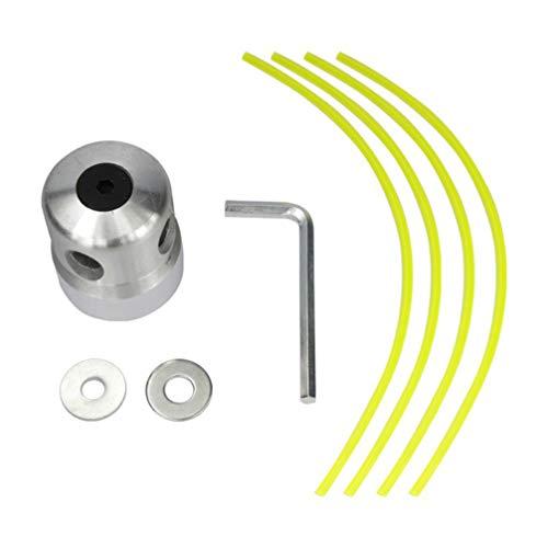 UKCOCO Universal Cabezal de la Podadora de Césped Aluminio Desbrazadora Césped Capezal Reemplazo Accesorios para Cortadoras de Cézped + 4 Líneas