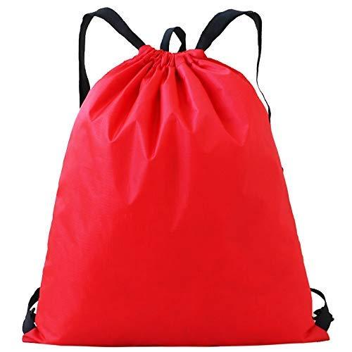 BBGSFDC Bolsa de Baloncesto Bolsa de Almacenamiento de Vistas al Aire Libre portátil (Color : Scarlet)