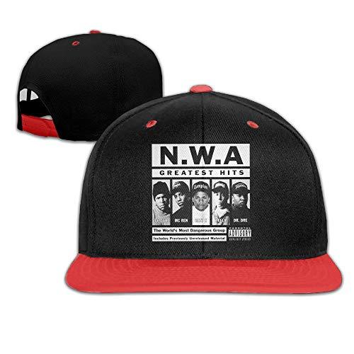 LIU888888 N.W.A Straight Outta Compton Snapback Adjustable Hip Hop Baseball Caps Hats for Unisex,Cappelli e Cappellini