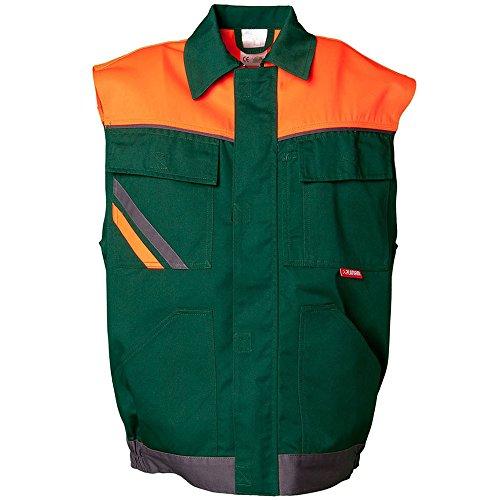 Größe 4XL Herren Planam Visline Weste grün orange schiefer Modell 2462