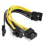 5pcs PCI-E 8ピン-2x 6 + 2ピンパワースプリッターケーブルPCIE PCI Expressスプリッターリボンマイナーケーブル