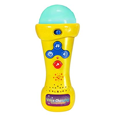 Little Pretender Kids Karaoke Microphone with Voice Changer, Record & Playback, Built-in Tracks and LED Lights Ages 3+
