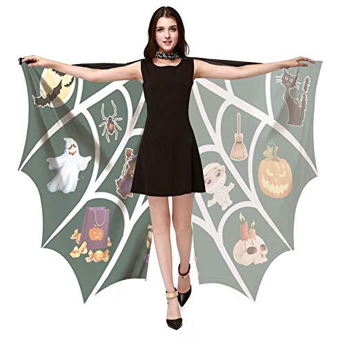 Ardorlove Unieke vleermuis vorm mantel voor Halloween grote vleermuis vleugels