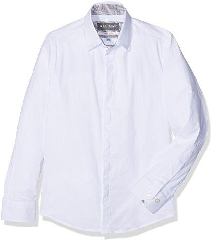 G.O.L. Jungen Eton-Kragen Hemden, Weiß (White 6), 158