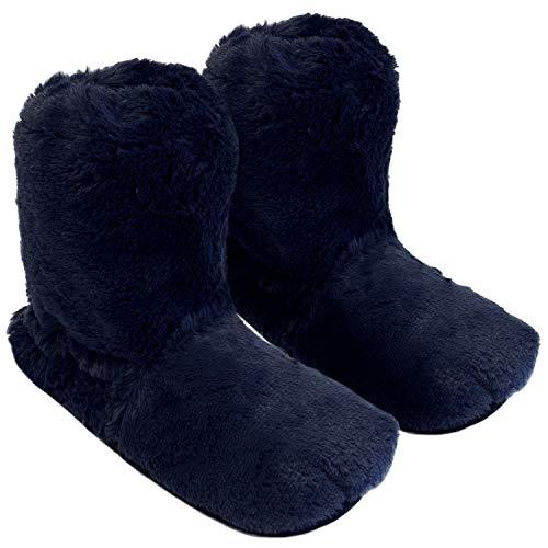 Thermo Sox Pantofole termiche alte per forno e microonde, Blu (Marineblau), M / 36-40