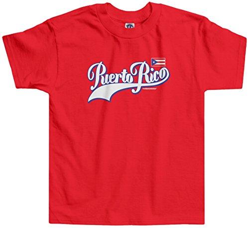 Threadrock Little Boys' Team Puerto Rico (Script) Toddler T-Shirt 2T Red