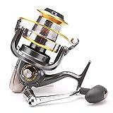 9000 Carrete de Pesca Ultra Suave para Mar Agua Salada, 12 + 1 BB de Acero Inoxidable, 66 Libras de Potencia de Arrastre, Carrete de Pesca Grande para Trabajo Pesado