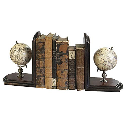 Authentic Models - Buchstützen - Globus - Antik - 2er Set