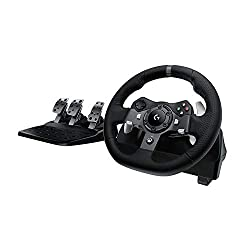 commercial Logitech G920 Driving Force Racing Bike with two motors and responsive pedals for the Xbox One … racing wheel stand