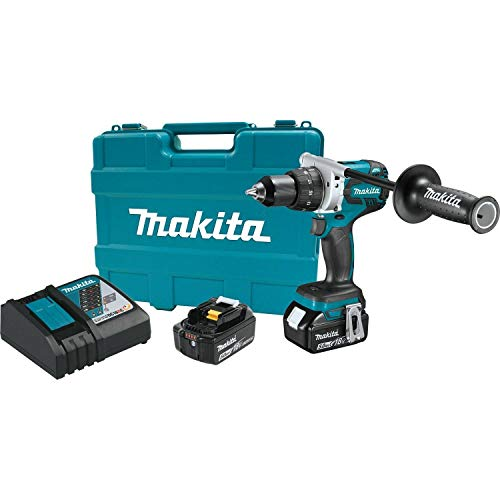 MAKITA XFD07T 18V LXT Lithium-Ion Brushless Cordless 1/2-Inch Driver-Drill Kit (Renewed)