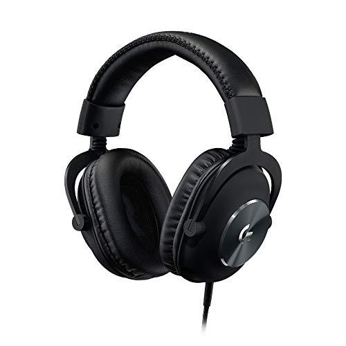 Logitech G PRO VR Gaming-Headset für Oculus Quest 2, Oculus Ready, Kabel in individueller Länge, PRO-G Gaming-Audio-Treiber, Stahl- und Aluminiumkonstruktion, 3,5 mm Aux-Anschluss - Schwarz