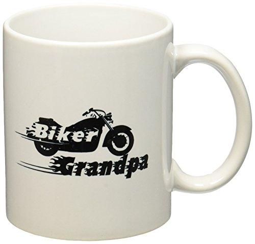 3dRose Biker Grandpa. Motorbike Motorcycle Granddad. Fast Bike. Cool Black...