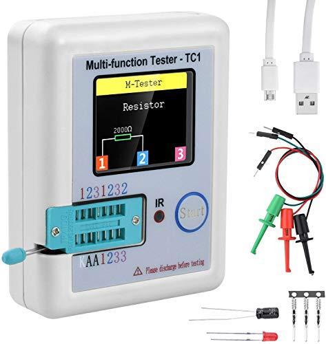 Tester multifunción 3,5 pulgadas, pantalla colorida con bolsillo multifuncional TFTBacklight Transistor LCR-TC1 Tester para Diodo Triode Capacitor Resistencia LCR LW21