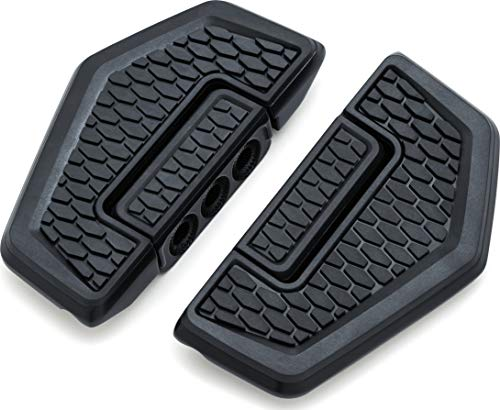 Kuryakyn 5909 Motorcycle Foot Control Component: Hex Folding Boards for Driver or Passenger Floorboards, Satin Black, 1 Pair