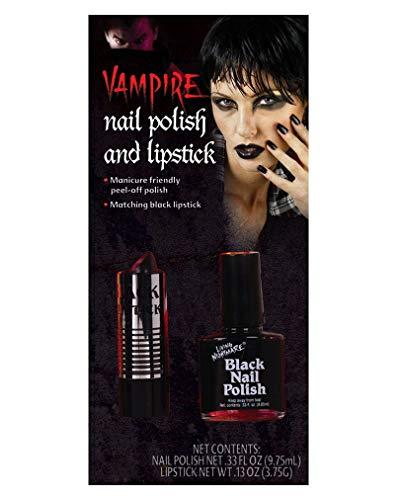 Zwarte Nagellak En Lippenstift