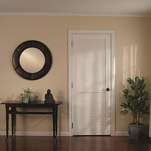 "National Door Company ZZ365008 Primed MDF, Full Louver Interior Door Slab, 36""x80"", 1-3/8"" Thick"
