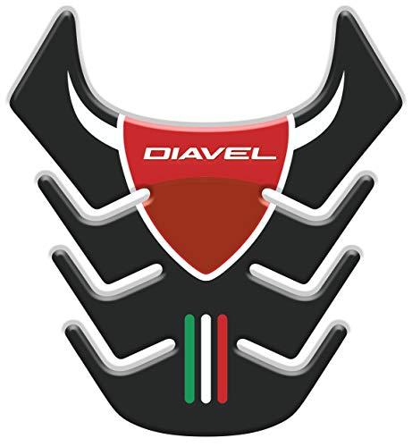 Tankpad Motorad Draht Muster Tankschutz KOMPATIBEL von D.ucati Diavel v1