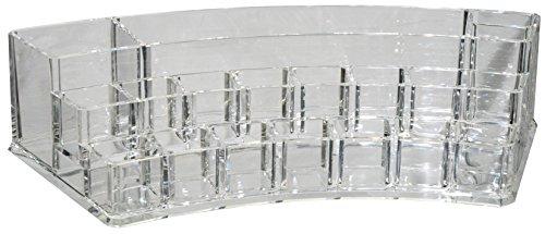 Fantasia 51003 Boîte à compartiments en acrylique semi-circulaire pour produits cosmétiques 28,2 x 11,9 x 6,5 cm