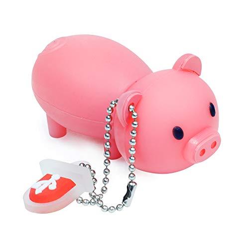 BorlterClamp Süßes USB Stick 32GB Speicherstick mit Niedlichen rosa Schweinchen Modell, Geschenk für Studenten und Kinder