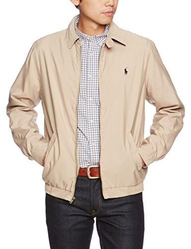 Polo Ralph Lauren Mens Bi-Swing Windbreaker Jacket (Khaki, X-Large)
