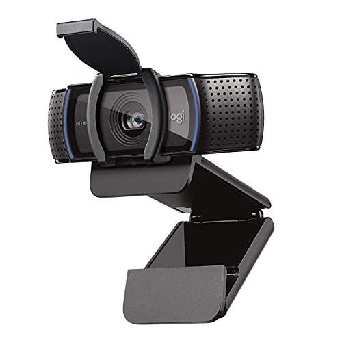Logitech C920S HD Pro Webcam, Full HD 1080p/30fps Video Calling, Clear...