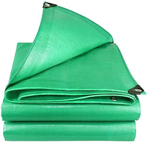 Lona de Lona de Alta Resistencia Ojales Reforzados Lona de PE Gruesa Lona Impermeable Lona de Cubierta Acampar al Aire Libre (Verde, 6x8)