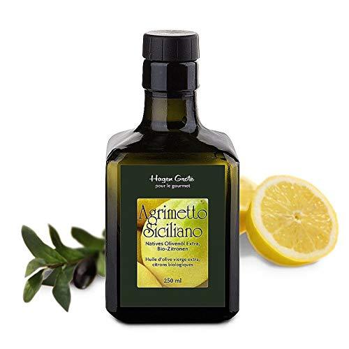 Hagen Grote Agrimetto, 250 ml Flasche, aus Sizilien, naturrein, kaltgepresstes Olivenöl mit Bio-Zitronen, fruchtig aromatisch, die Krönung vieler Gerichte