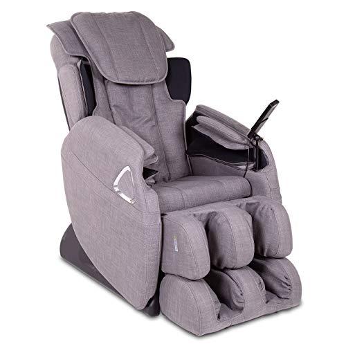 aktivshop Massagesessel Holiday Fernsehsessel Entspannungssessel Relaxsessel mit Shiatsu-Massage & Wärmefunktion (Stoff Graumeliert)
