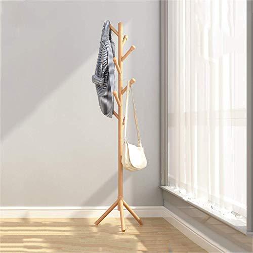 JKCKHA Bambú Perchero Suelo Y Zapatero Percha de combinación Simple Dormitorio Principal Banco de Zapatos de la Sala Hanger 80 * 31 * 170cm de Montaje en Pared Estante Adecuado para Corredores, Salas
