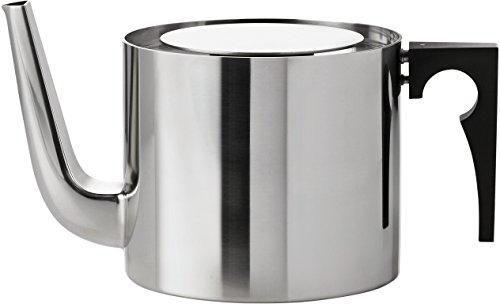 Stelton Teekanne aus Edelstahl, designed von Arne Jacobsen in der der Cylinda-Line, 1.25l
