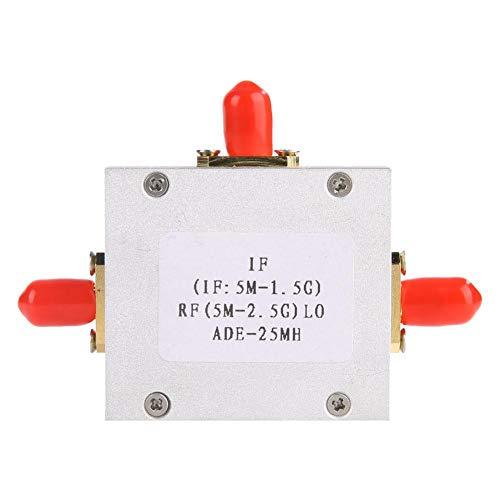 Keenso Passives Mischermodul ADE-6 Hochlinearer, geräuscharmer Passivmischerdioden-Doppelverteiler-Mischerfrequenzwandler 5-2500 MHz