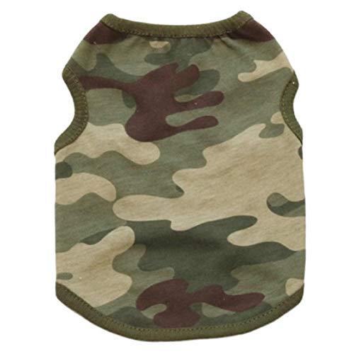 Bluelucon Cool vest voor hond kat hoodie pet hondenpullover pullover bedrukt gebreide pullover warm lentepullover zacht comfortabel hondenkostuum camouflage patroon
