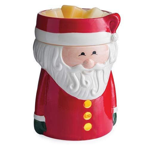 CANDLE WARMERS ETC. Christmas Illumination Fragrance Warmer- Light-Up Warmer for Warming Scented Candle Wax Melts and Tarts or Essential Oils to Freshen Room, Santa Claus