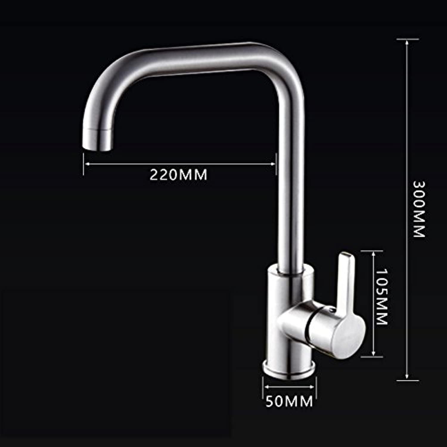 Hlluya Professional Sink Mixer Tap Kitchen Faucet The copper cold water faucet redation,D