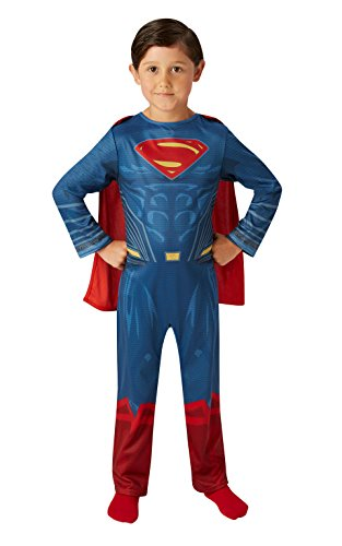 Superman - Disfraz Justice League Movie Classic infantil, multicolor, M (Rubie's Spain 640811-M)