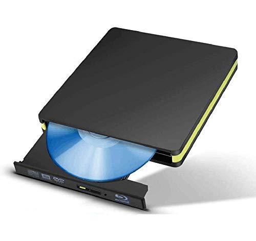 KuWFi lettore blu ray esterno ,Lettore masterizzatore BD-RE DVD-Type Bluray USB 3.0 Bluray DVD + - RW DVD-RAM per computer portatile Mac OS, Windows 7 8 10, PC