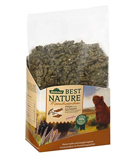 Dehner Best Nature knaagvoer voor volwassenen, cavia-voer pellets, per stuk verpakt (1 x 3000 g)