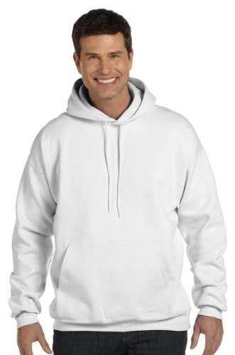 Hanes Ultimate Cotton Adult Pullover Hoodie Sweatshirt White 10 Oz Pullover Hooded Sweatshirt