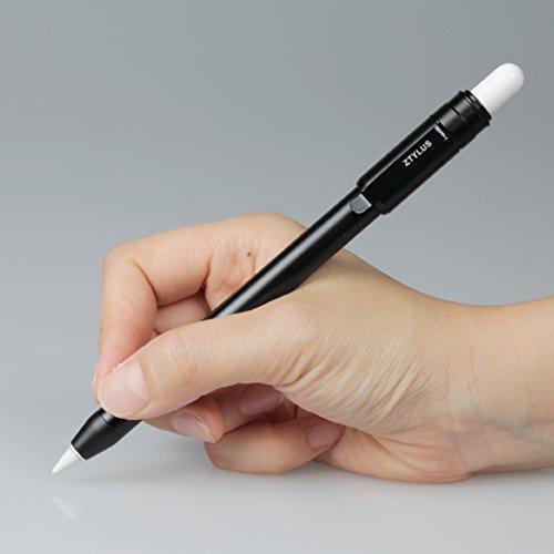 Ztylus Funda Protectora Fina de Metal para Apple Pencil de 12,9 Pulgadas, 10,5 Pulgadas, 9,7 Pulgadas, Color Negro