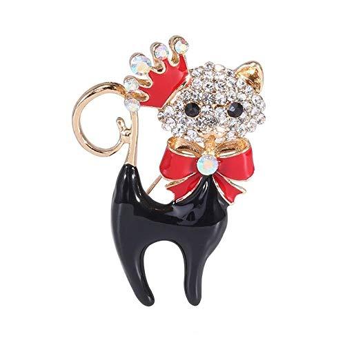 GLKHM Elegante Broche Broches De Gato Esmaltados Broches De Animales para Mujer