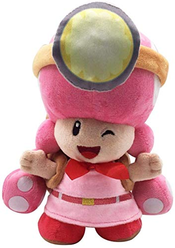 Cxjff Jellycat rabbit grey niffler keyring Super Mario Bros Captain Toadette Soft Plush Toy Stuffed Animal with Backpack Toad Treasure Tracker 8 Inches The goods are usually issued within 2-3 days