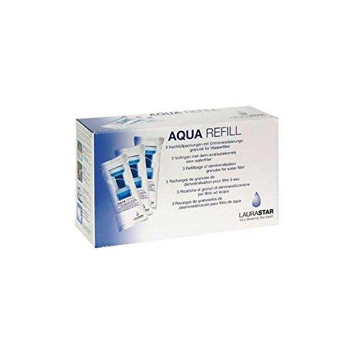 LAURASTAR AQUA REFILL - Lote de 3 filtros de recambio para electrodomésticos pequeños