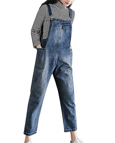 Peto Jeans Mujer Anchas Vintage Overall Peto Elegantes Denim Verano Hipster Informales...